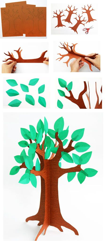 comment faire un arbre toddler crafts pinterest comment faire faire et activit. Black Bedroom Furniture Sets. Home Design Ideas
