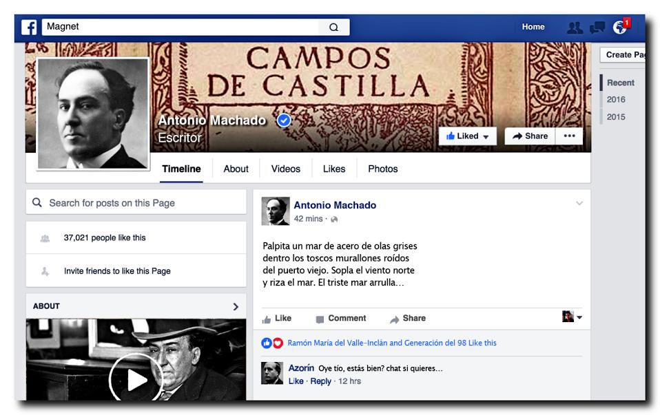 Así serían los artistas clásicos españoles si utilizaran las redes sociales hoy. http://bit.ly/236liv7 por +Andrés Pérez Mohorte