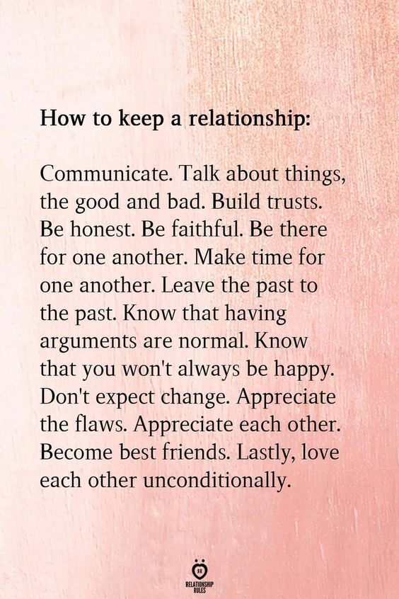 How to keep Relationships