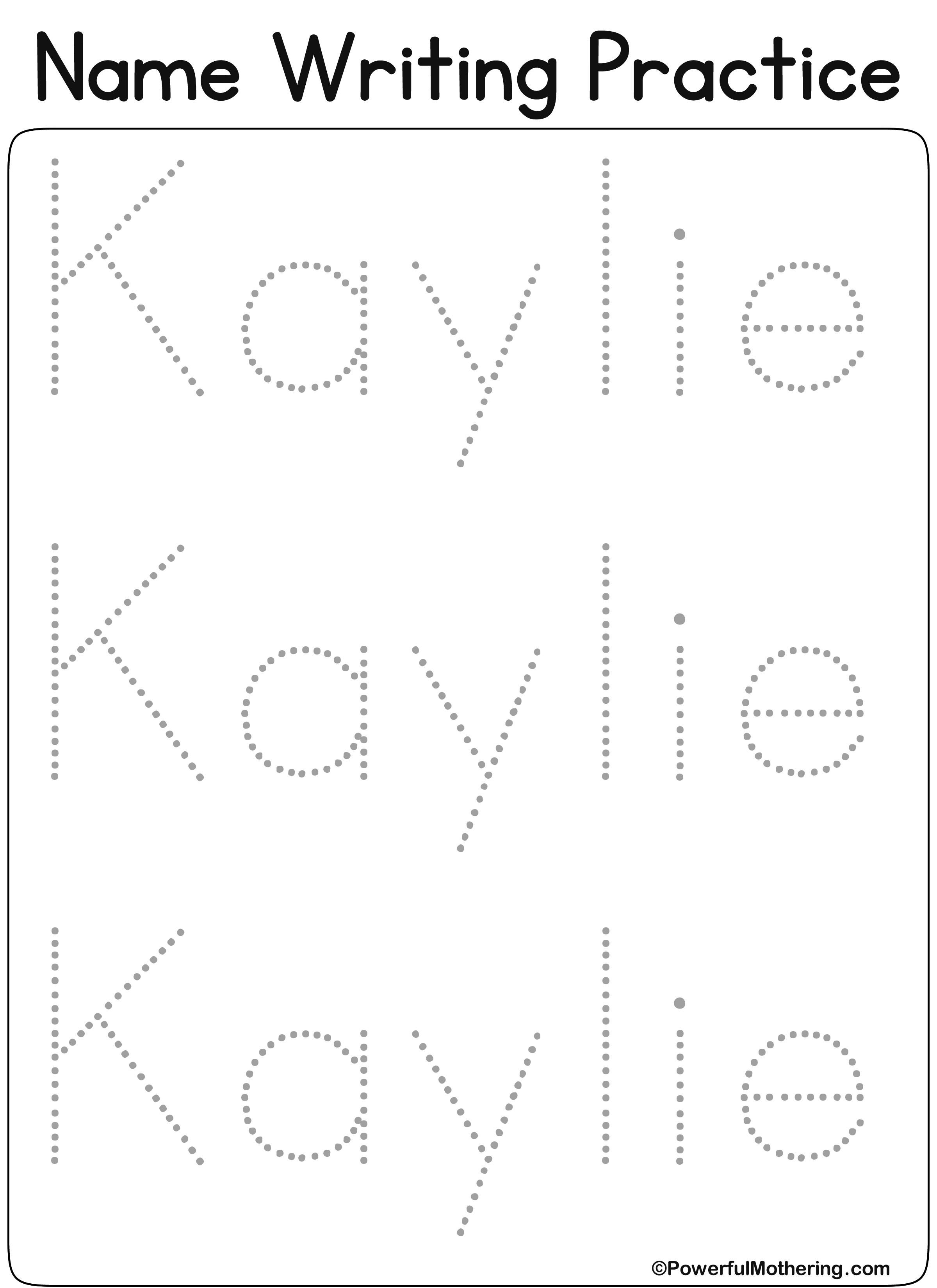 Eateprintables Custom Name Get Text Kaylie