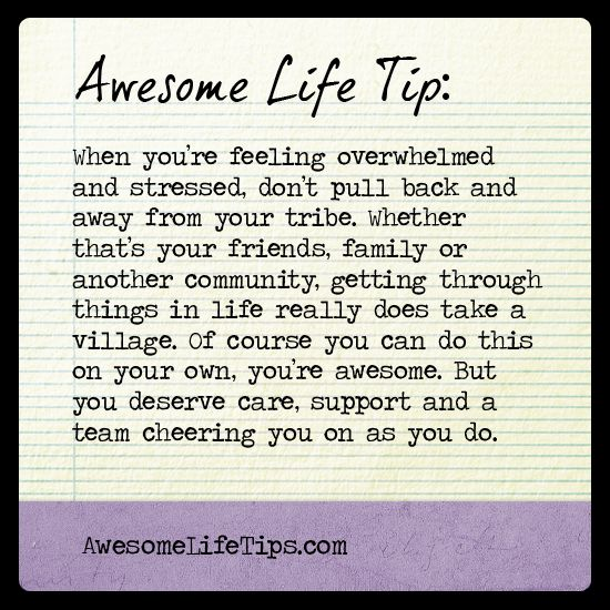 Awesome Life Tip: It Takes A Village >> Www