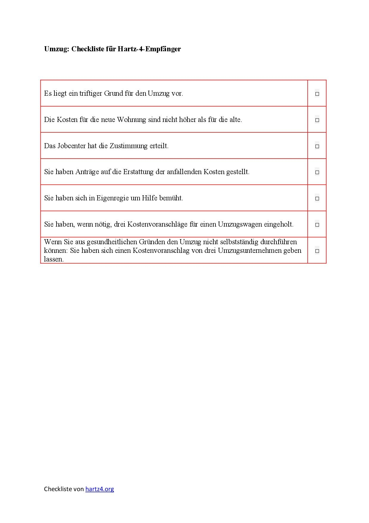 Hartz 4 Antrag Muster Fur Alle Belange Hartz Iv Alg 2 Lebenslauf Download Lebenslauf Muster Umzug Checkliste