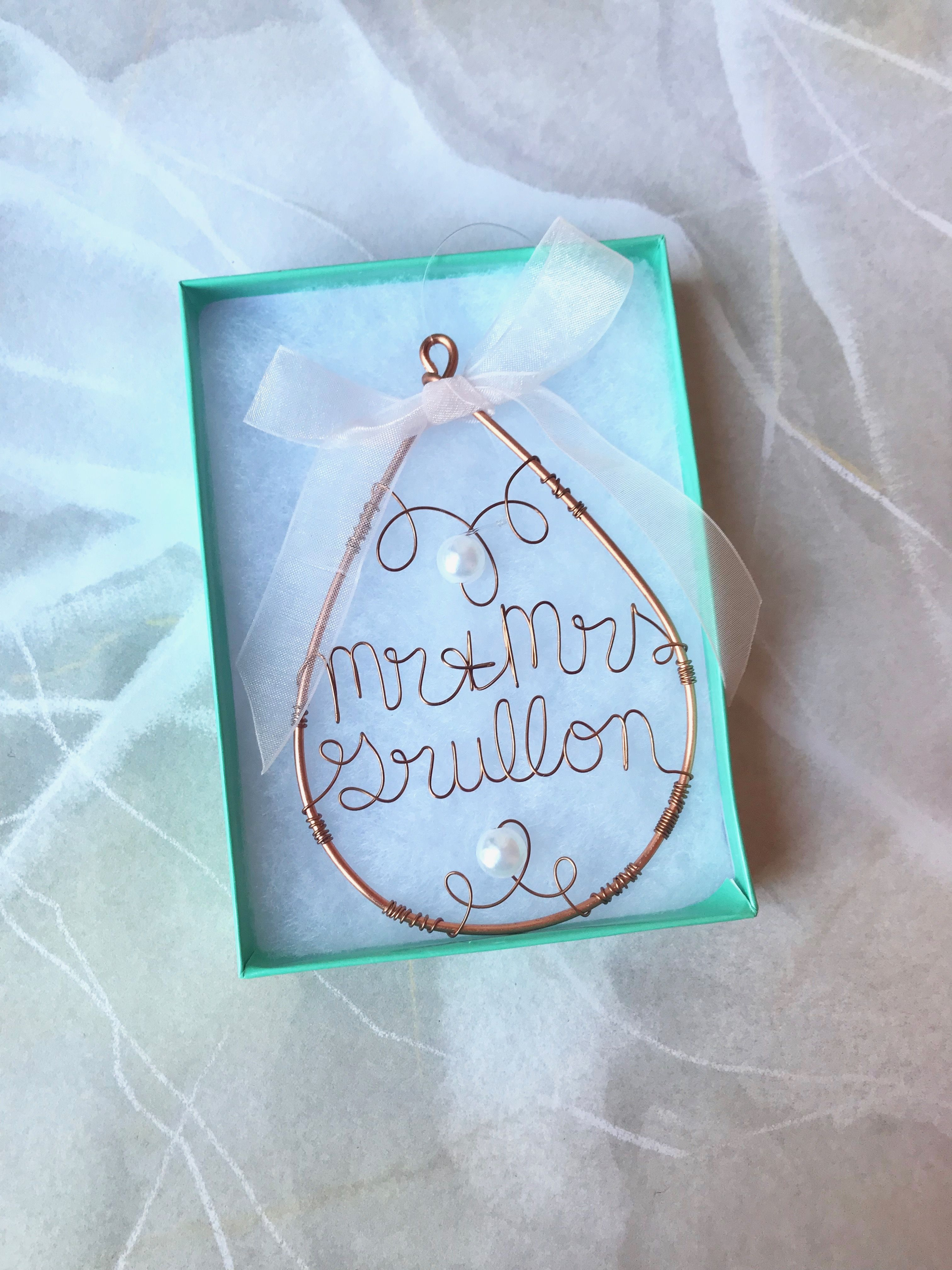 Mr and mrs ornament wedding ornament our first christmas as mr and