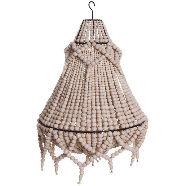 Princessa Wooden Beaded Chandelier Multiple Colours 225 Liked On Polyvore Featuring