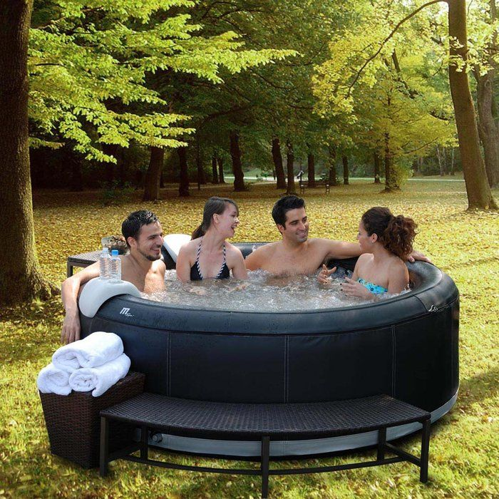 spa2go inflatable 4 person hot tub at brookstone buy now where the wild things are. Black Bedroom Furniture Sets. Home Design Ideas