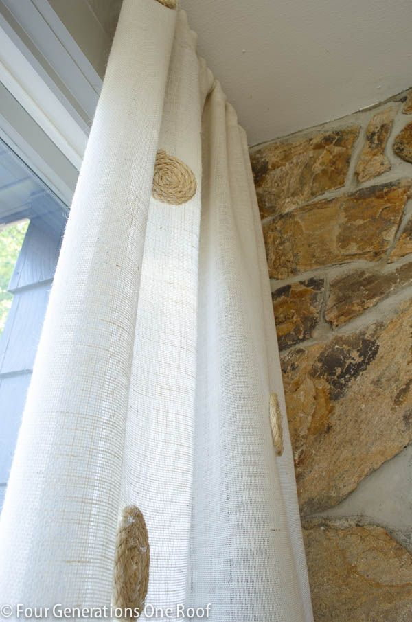 No Sew Diy White Burlap Curtains With Images Burlap Curtains Diy Burlap Curtains Cute Bedroom Decor