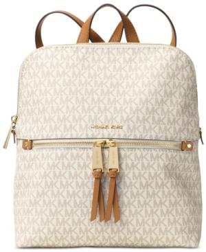 991aec158cfb Signature Rhea Medium Slim Backpack | Products | Michael kors ...