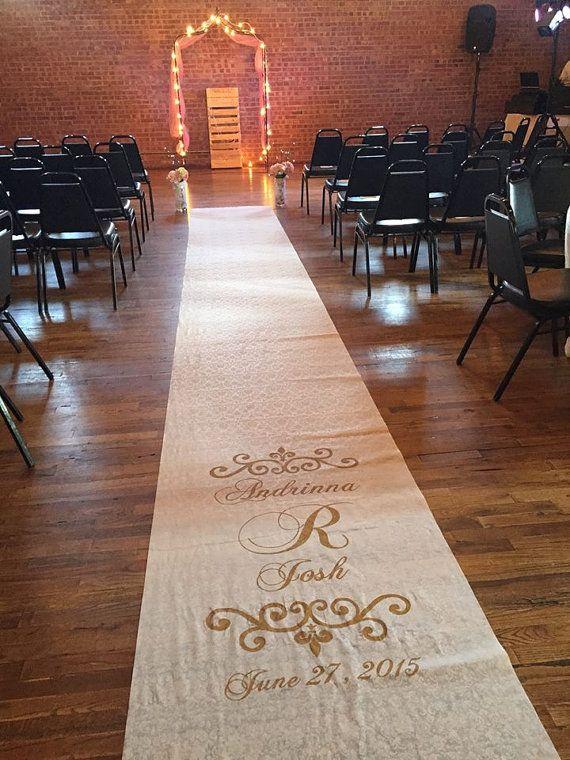 Wedding Aisle Runner - Custom Hand-painted; White , Ivory or Burlap ...