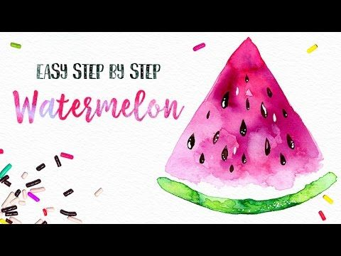 Easy Watercolor Watermelon Painting Step By Step X2f X2f You