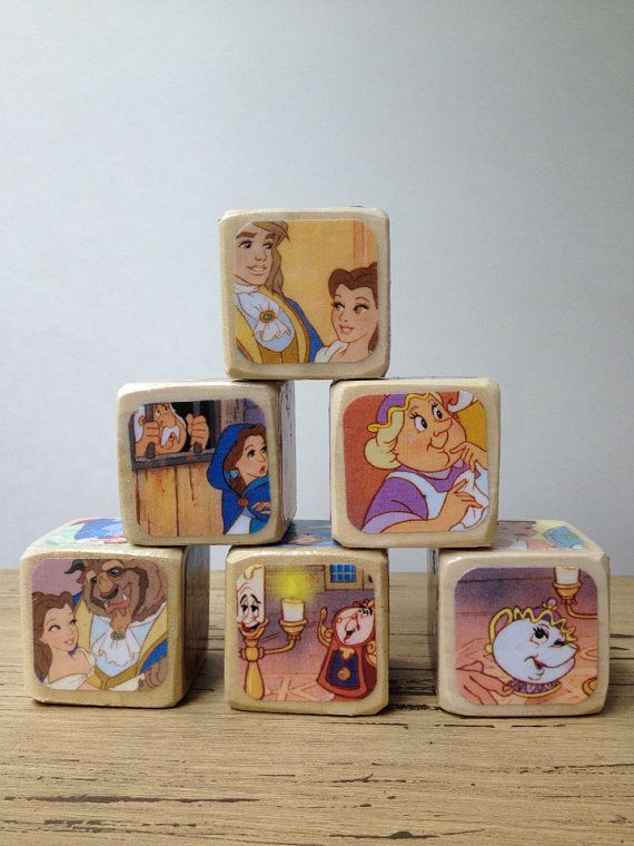 Beauty And The Beast Childrens Book Blocks Natural