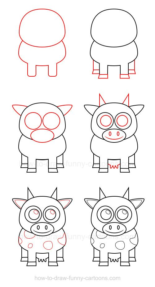 You can draw a cow using this simple tutorial and impress friends and family with your new drawing abilities
