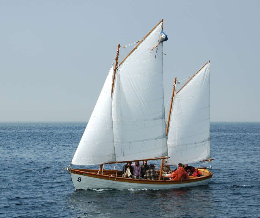 Tern, 24' Gaff-rigged Lapstrake Exploration Ketch ~ Sail and Oar Boats ~ Tad Roberts Small Boat ...