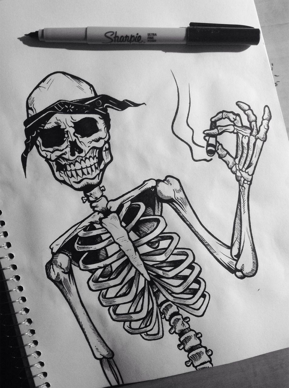 интересный крутые рисунки для пацанов карандашом скелеты пейзажи есть военная