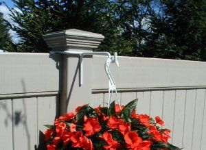 Vinyl Fence Plant Accessory Post Hanger White 8 5 Inch