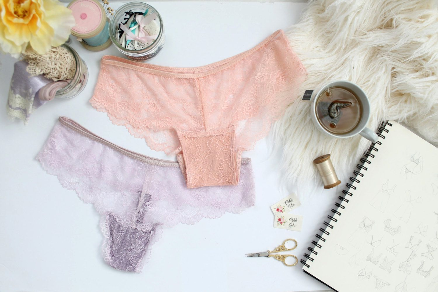 The Ultimate Lace Panties Sewing Pattern DIY Thong and Hipster Panty ...