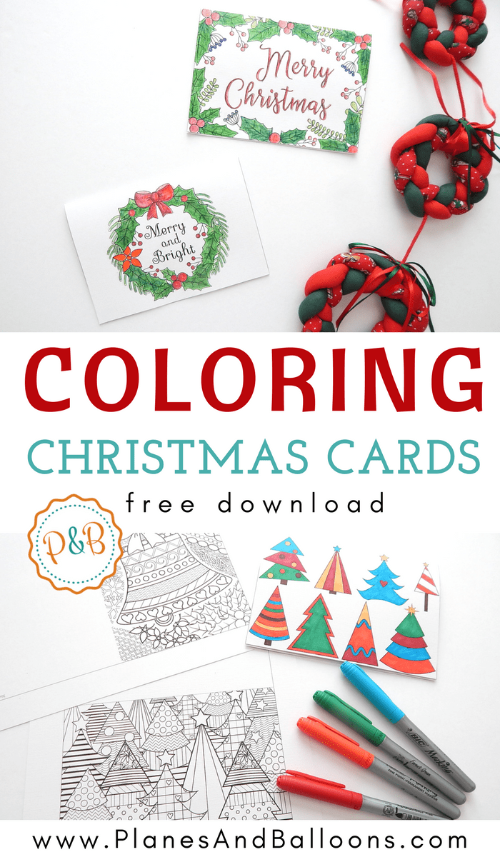 6 Unique Printable Christmas Cards To Color Free Pdf Christmas Cards Free Free Printable Christmas Cards Christmas Coloring Cards