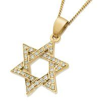 14k deluxe gold star of david pendant with diamonds gold pendants 14k deluxe gold star of david pendant with diamonds gold pendants mozeypictures Gallery