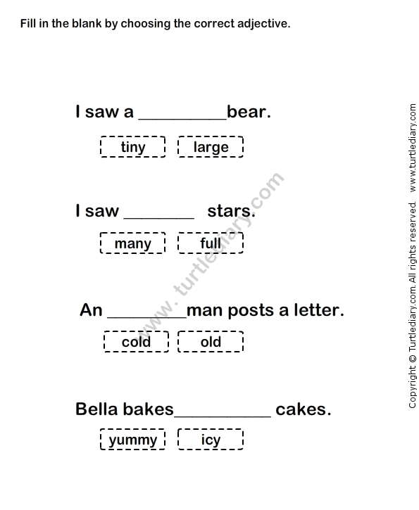 Pin on Adjectives Worksheets