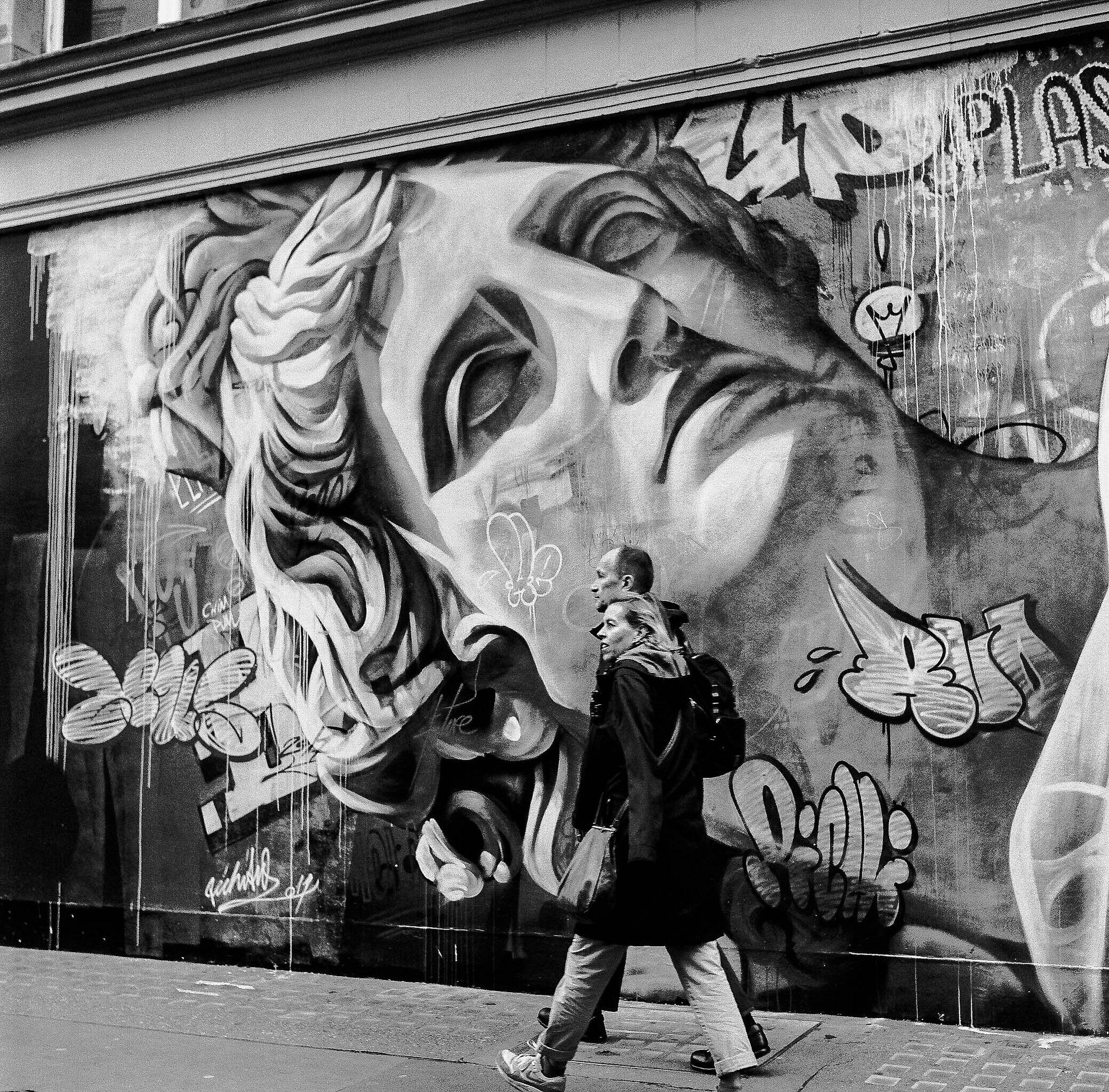 птица фотографии граффити черно белые выяснилось