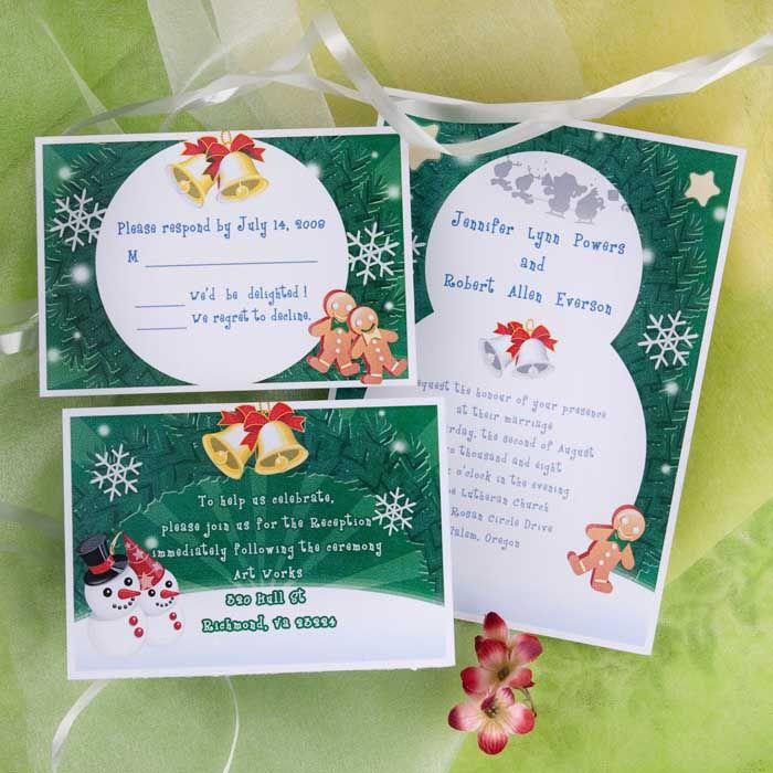 winter wedding ideas & snowman wedding invitations | Love ...