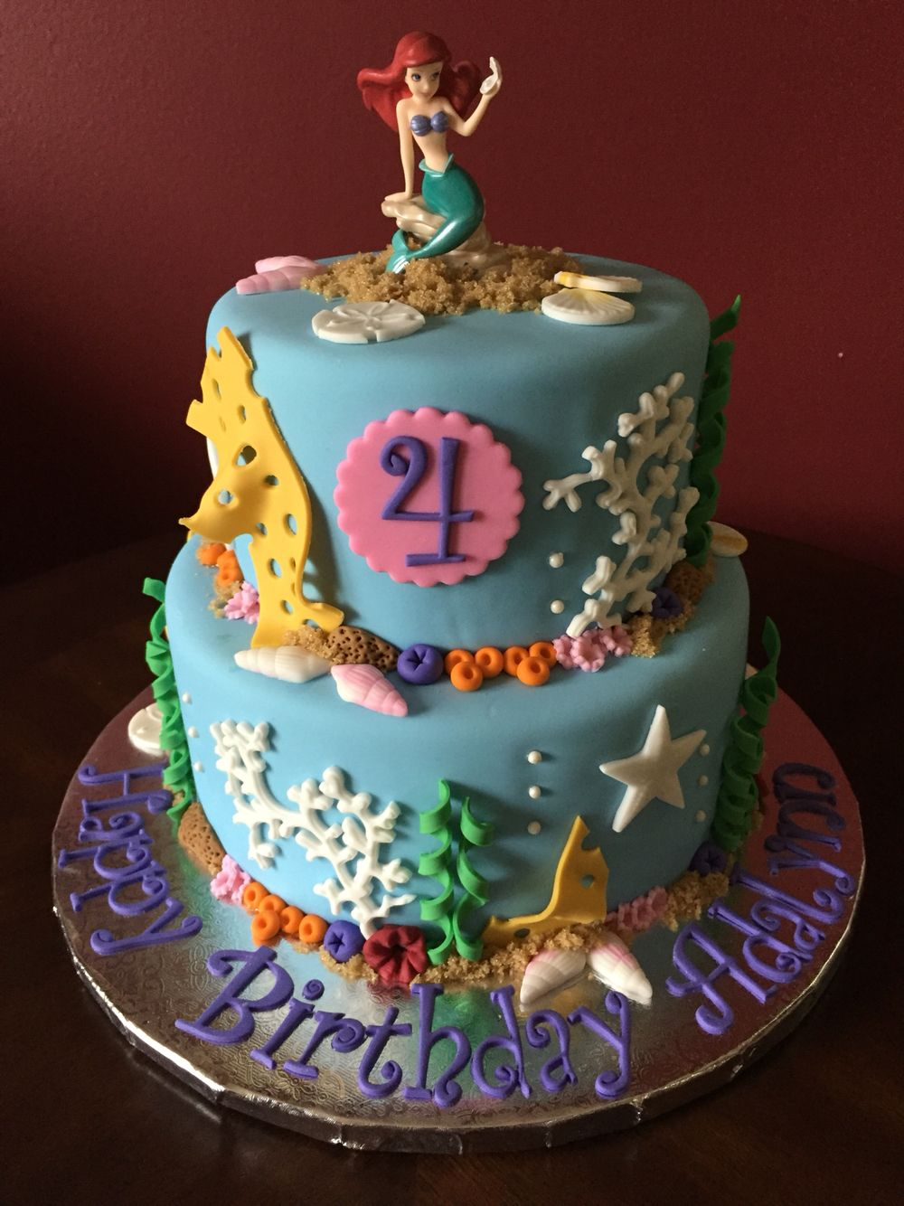Ariel The Little Mermaid Birthday Cake Birthday Cakes Pinterest