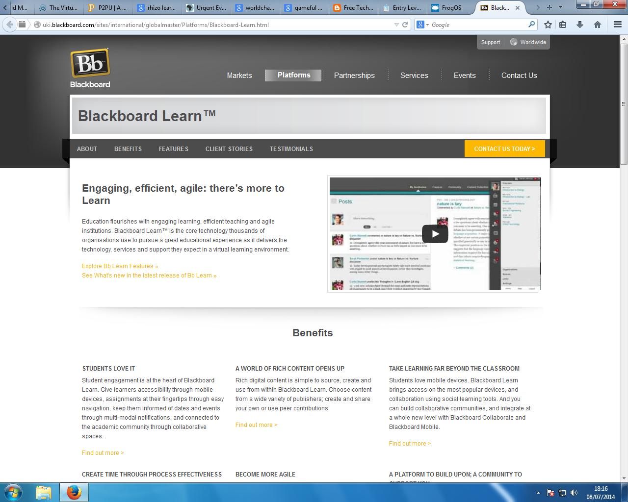 Blackboard Online Lms Vle Blackboard Learn Online Education