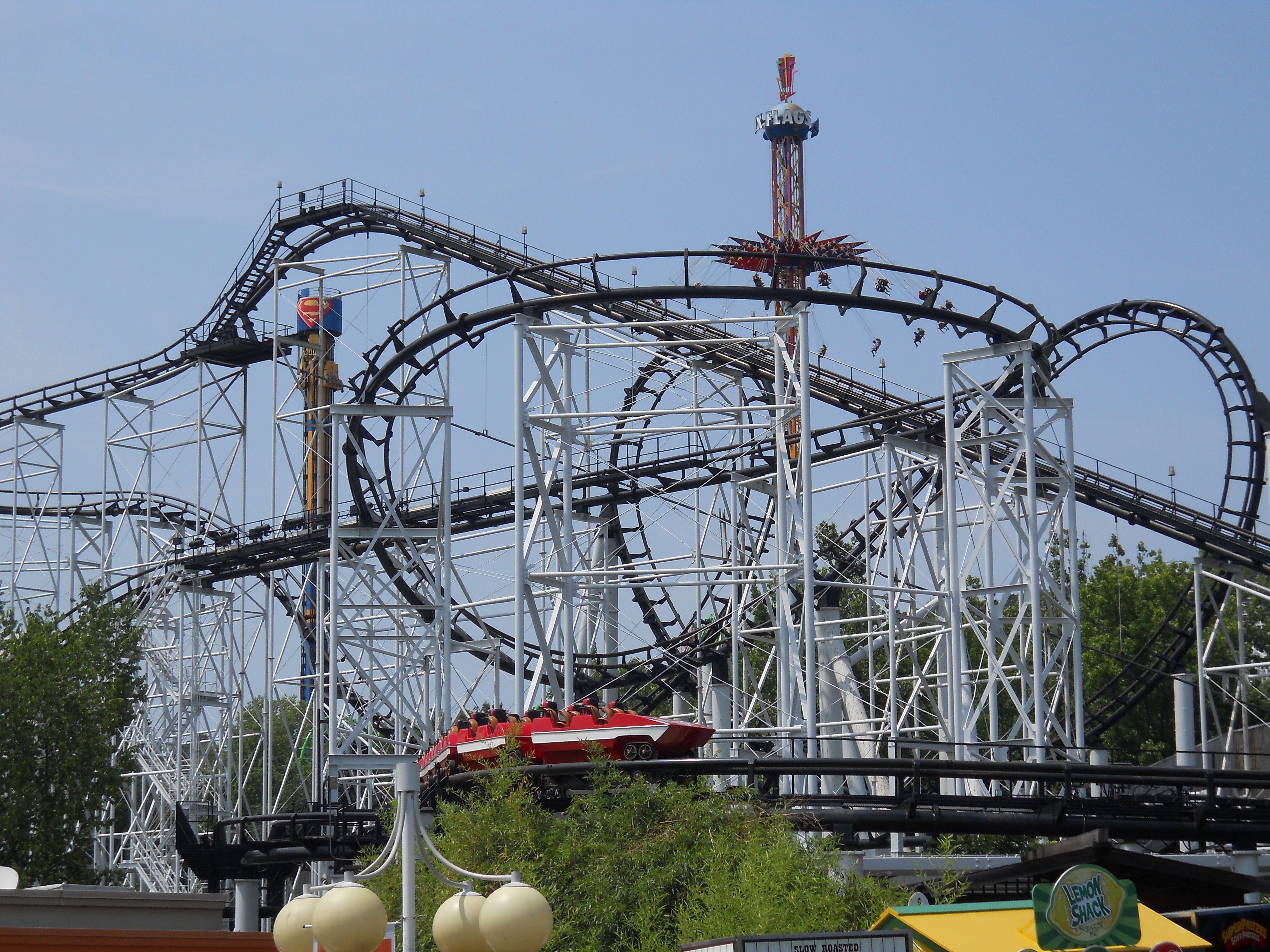 Ninja Six Flags St Louis Mo Looping Steel Coaster Roller Coaster Six Flags Amusement