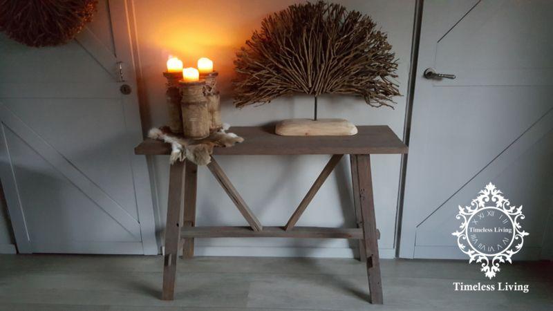 Side Table Oud Teak.Sidetable Grey Wash Stoer Sober Oud Teak Hout Bij Timeless