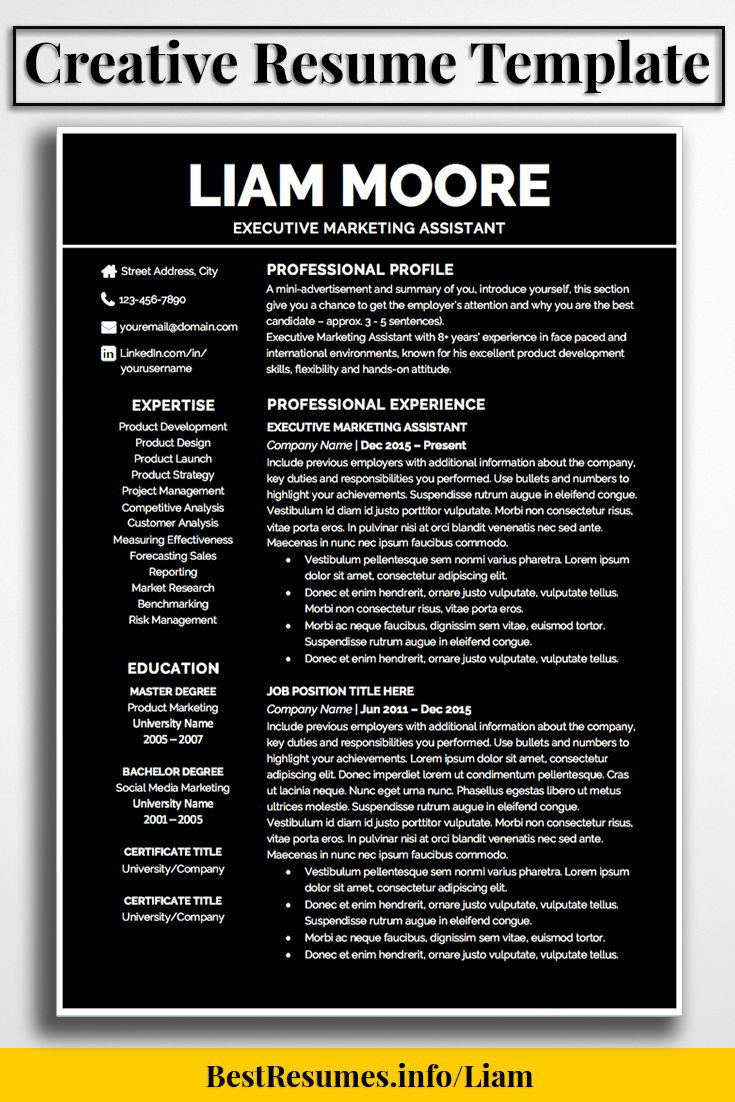 Resume Template Liam Moore  Job Resume And Template