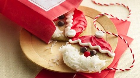 Christmas Decorated Santa Cookie Christmas Cookie Swap Pinterest