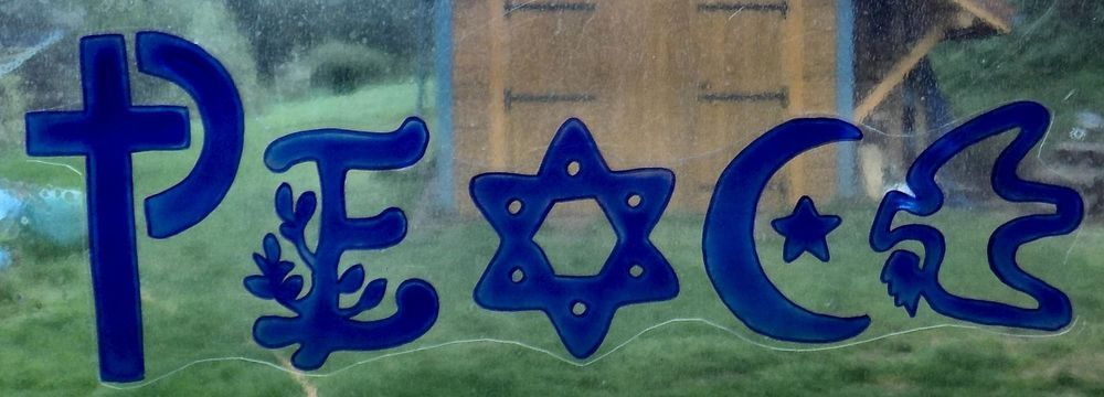WICOART WINDOW COLOR STICKER CLING FAUX STAINED GLASS SILHOUETTE PEACE