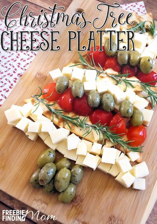 Christmas Tree Cheese Platter Christmas appetizers