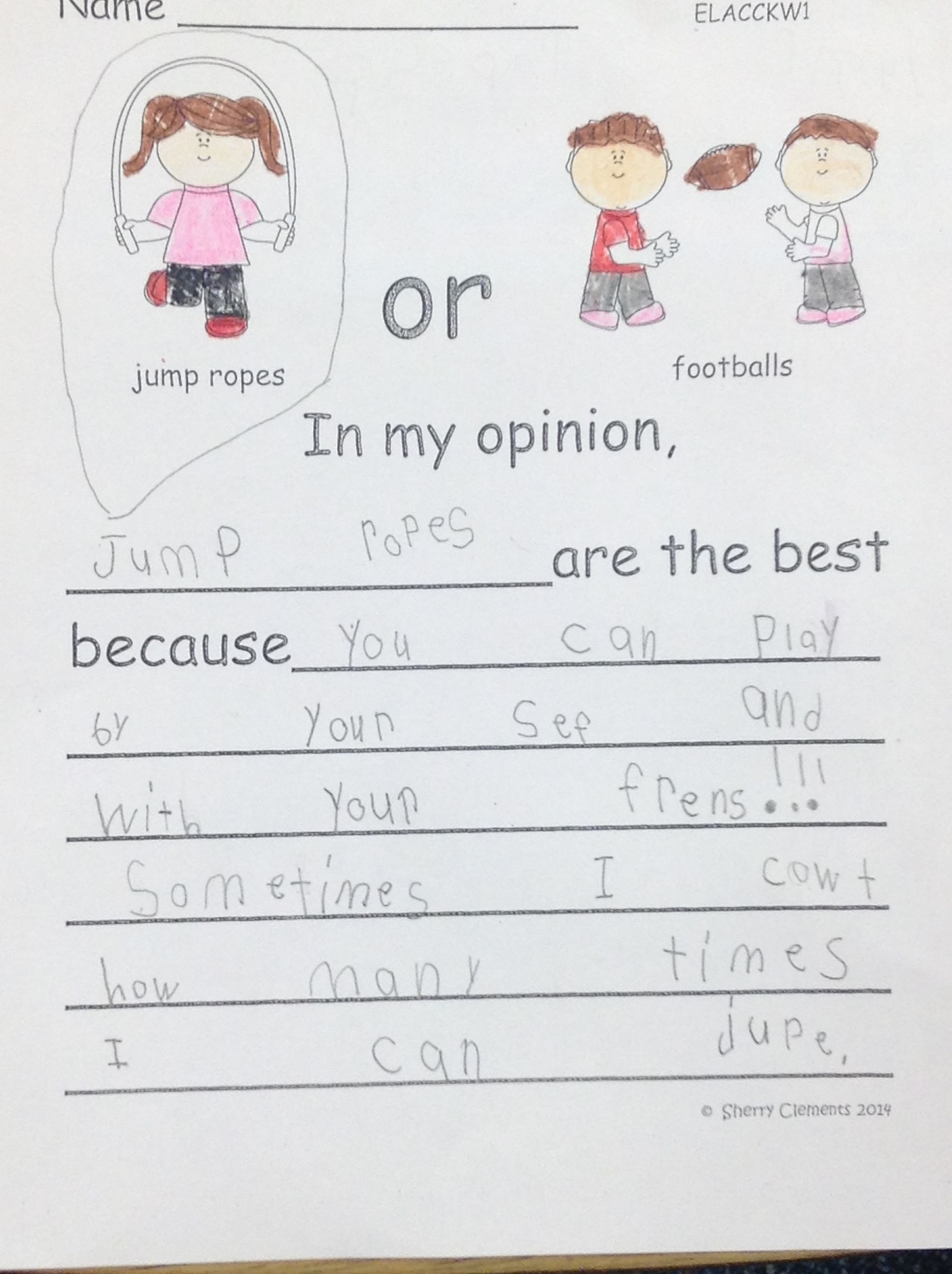 Toys Opinion Writing