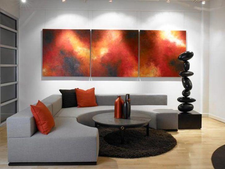 rot und weiß wohnzimmer dekorative ideen akzent wand für ...