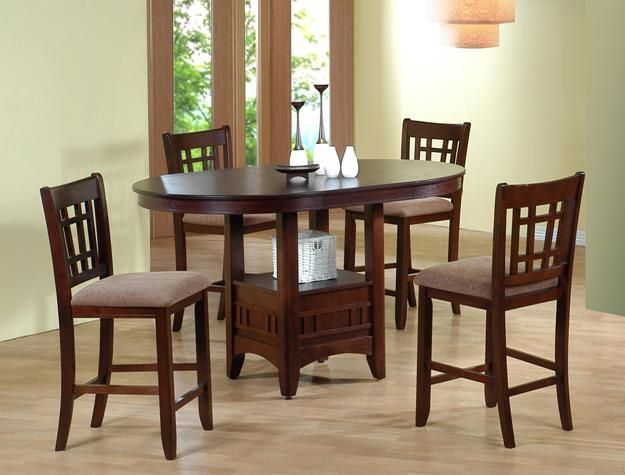 Crown Mark Cm2185t 4260 5 Pc Empire Brown Finish Wood Counter