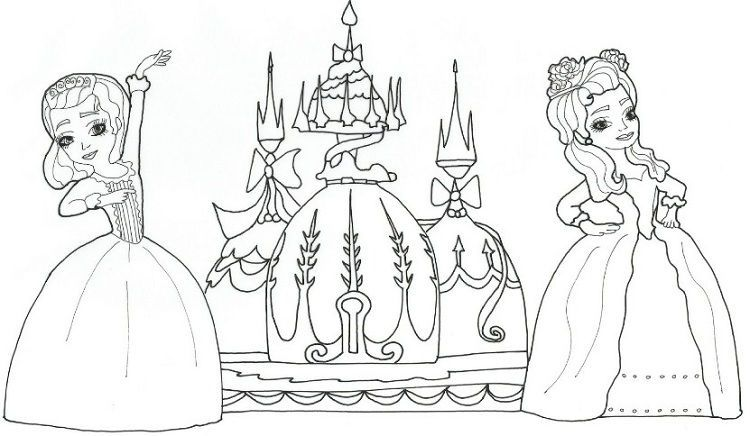 Sofia The First Castle Coloring Pages