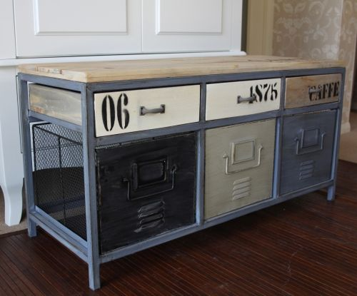 Locker Style Storage Bench