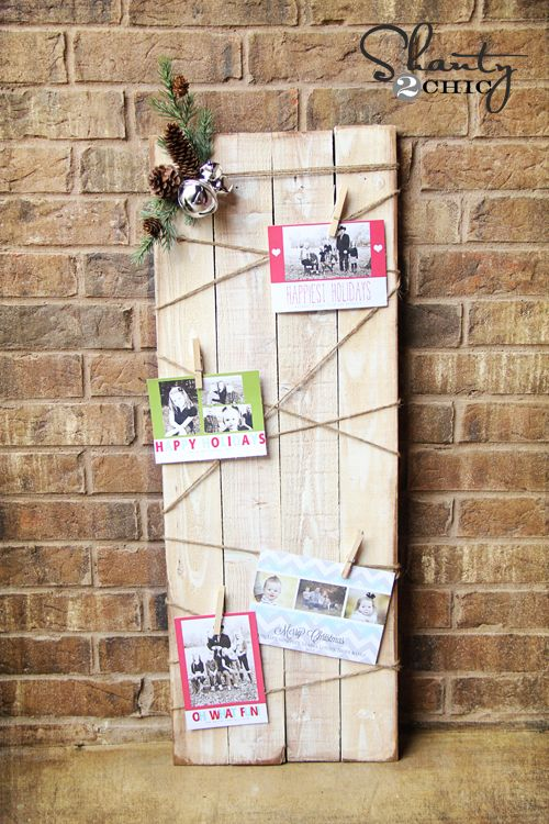 Christmas Card Holder - DIY Card displays, DIY Christmas and