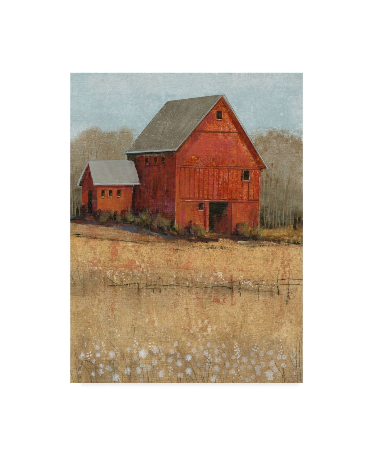 Trademark Global Tim Otoole Red Barn View II Canvas Art - 15