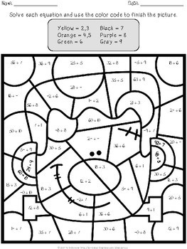 Halloween Multiplication And Division Color By Number By Tchrbrowne Halloween Math Worksheets Halloween Multiplication Halloween Math