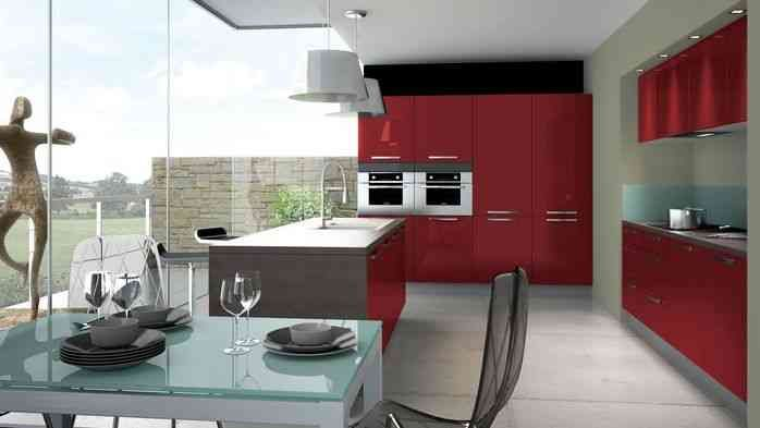 Petilla rouge majestic brillant cuisinella cuisinella for Cuisine cuisinella prix