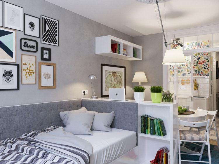 Apartment Einrichtung apartment mini design idee einrichtung bett wohnbereich esstisch