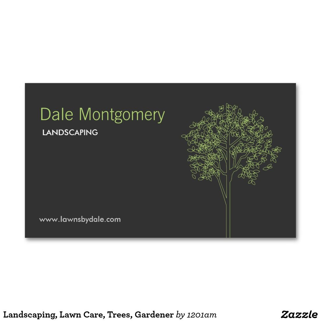 Landscaping lawn care trees gardener doublesided