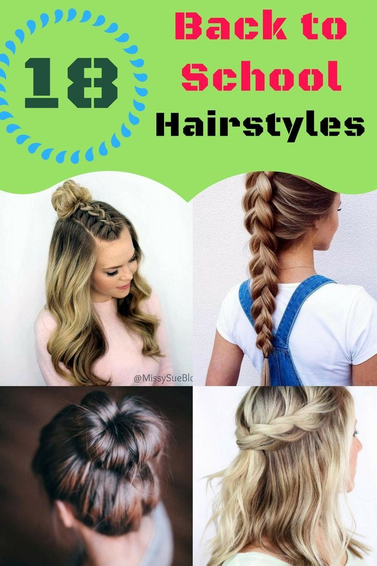 Back To School Hairstyles 18 Quick Easy Hairstyles For Girls Back To School Hai Back To School Hairstyles Easy Easy Hairstyles Quick Easy Work Hairstyles