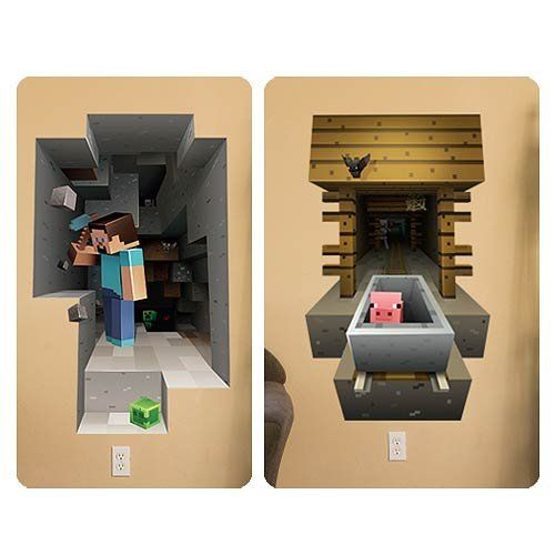 Minecraft 3d Giant Wall Graphics Decal Stickers Reuse Cli... //  sc 1 st  Pinterest & Minecraft 3d Giant Wall Graphics Decal Stickers Reuse Cli... http ...