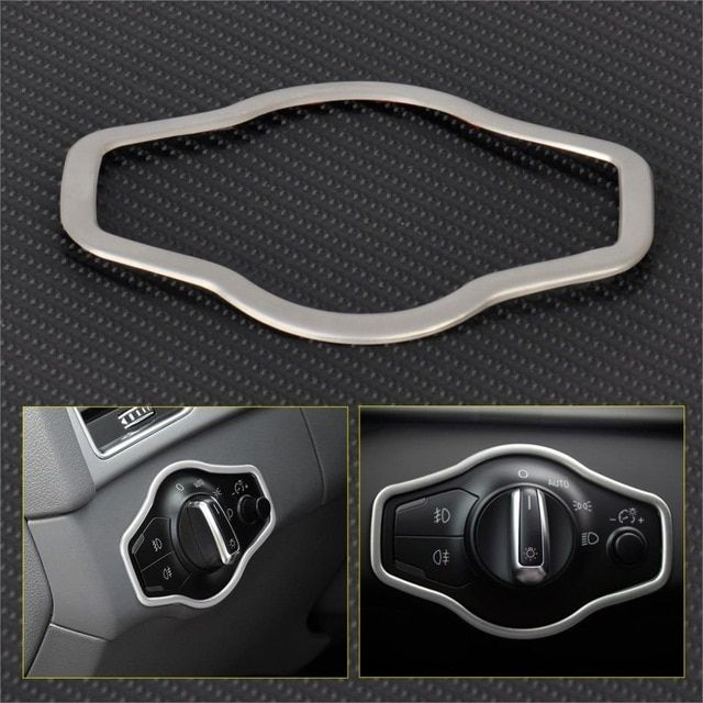 CITALL Chrome Interior Headlight Switch Button Cover Trim