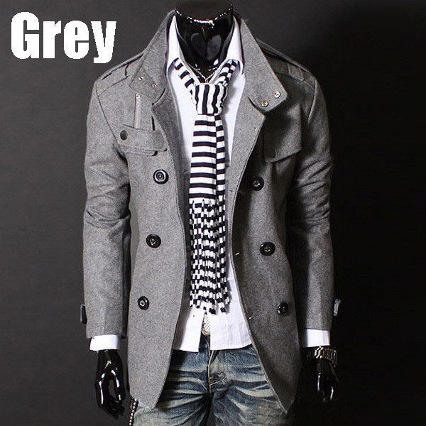 Double-Breasted Woolen Coat | Warm coat, Stylish and Clothes