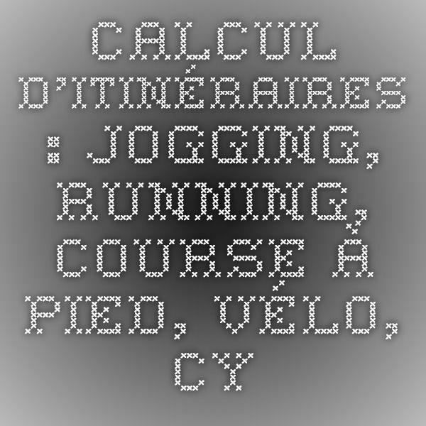calcul itineraire course a pied