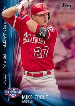 2016 Topps Opening Day Alternate Reality Ar 8 Mike Trout