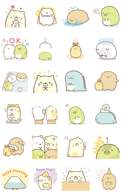 Moving Sumikko Gurashi Animation Cute Cartoon Wallpapers Cute Stickers Cute Kawaii Drawings